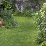 jardín casa rural